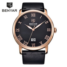 Load image into Gallery viewer, Hot Sale Mens Watches Top Brand Luxury Watch BENYAR Big Dial Design Roman Numerals Fashion Quartz