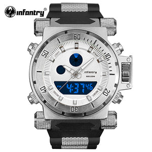 INFANTRY IN-050 Mens Watches Top Brand Luxury Analog Digital Watch Men
