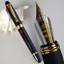 Load image into Gallery viewer, JINHAO X450 GLOSS BLACK 18KGP 0.7mm BROAD NIB FOUNTAIN PEN JINHAO 450 LUXURY BUSINESS PURPLE WINE GREEN GOLDEN 21 COLORS SELECT