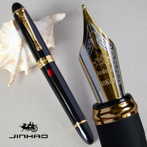 JINHAO X450 GLOSS BLACK 18KGP 0.7mm BROAD NIB FOUNTAIN PEN JINHAO 450 LUXURY BUSINESS PURPLE WINE GREEN GOLDEN 21 COLORS SELECT