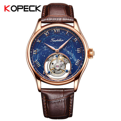 KOPECK 2019 Tourbillon Mens Watches Top Brand Luxury Men Mechanical Watch Original Real Tourbillon Hollow Movement 7006G