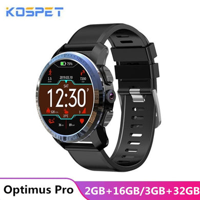 KOSPET Optimus Pro 3GB 32GB smartwatch men 800mAh Battery Dual Systems 4G Smart Watch Phone waterproof 8.0MP 1.39