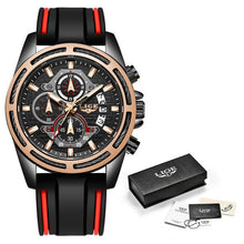 Load image into Gallery viewer, LIGE Fashion Mens Watches Top Luxury Brand Unique Sports Watch Men's Quartz Date Clock Waterproof Chronograph Relogio Masculino