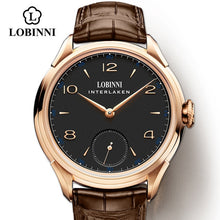 Load image into Gallery viewer, LOBINNI Seagull Mechanical Hand Wind Movement Masculinity Watches Luxury Switzerland Brand Man Waterproof Watch Male Wristwatch
