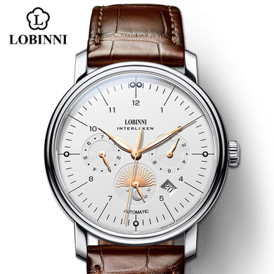 LOBINNI Switzerland Watch Men Luxury Brand Men Watches Automatic Mechanical Sapphire Watch Business and Fashion Waterproof