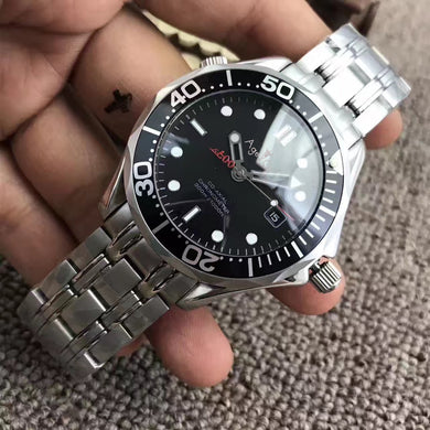 Luxury Brand New Men Automatic Mechanical Watch Black Blue Red 007 Ceramic Bezel Crystal Sapphire Date Luminous Sport Watch AAA+