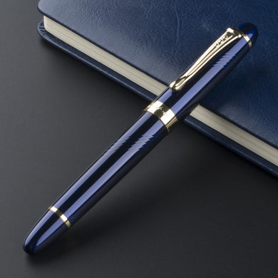 Luxury Jinhao X450 Deep Blue Thin Carven F Twist Nib Fountain Pen
