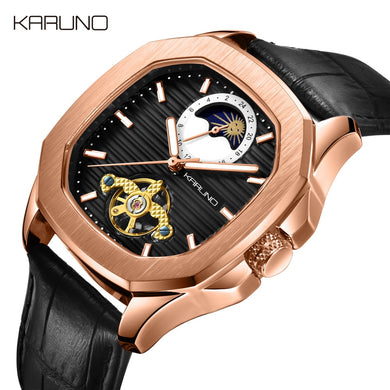 MCE Men's Watch Automatic Watches Relogio Masculinol Fashion Leather Mechanica Watches For Men Tourbillon Man Wristwatch