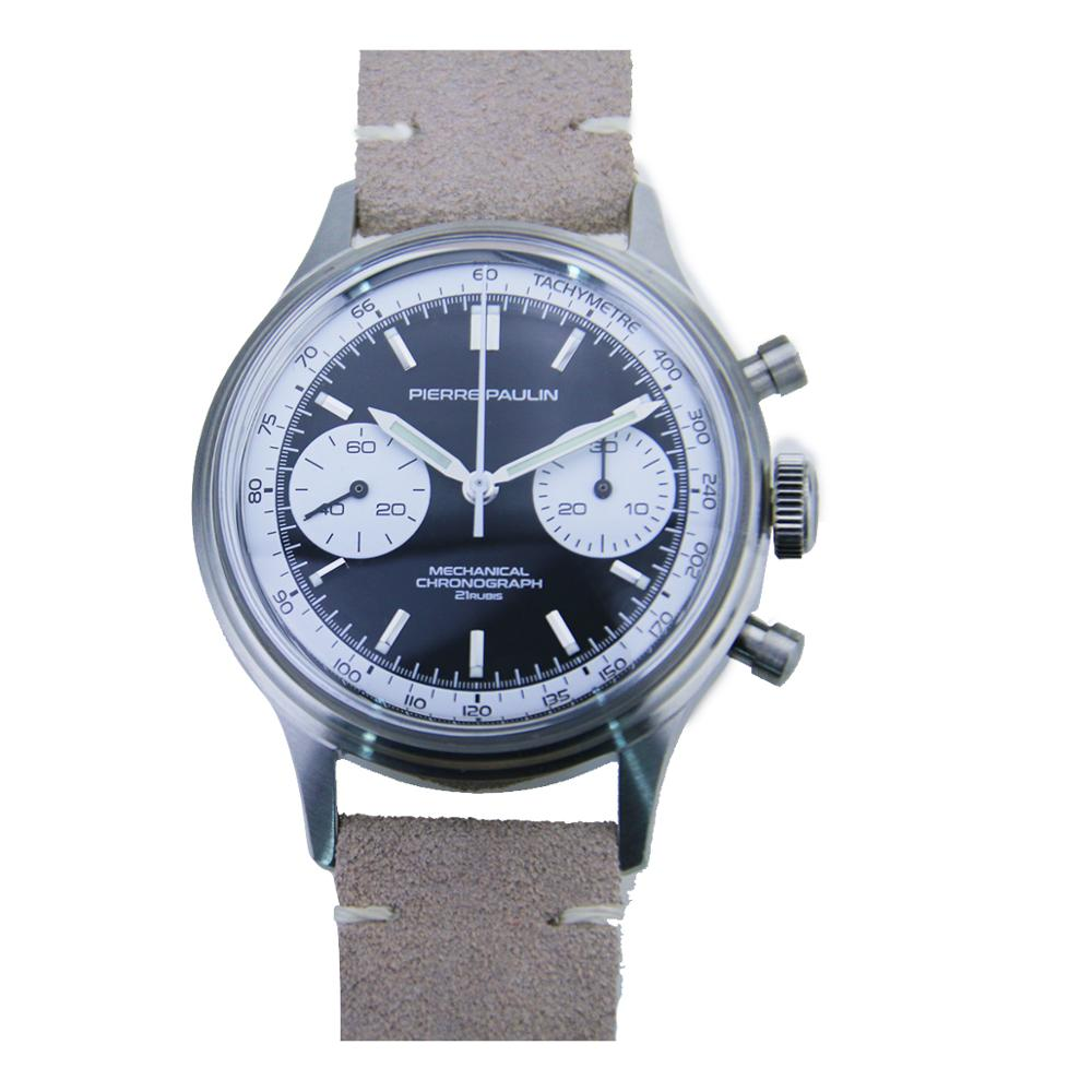 MERKUR FOD Pierre Paulin Seagull movement 1963 Chronograph Mechanical mens Pilot watch Swan Neck Miliary Pilot B-uhr Flieger
