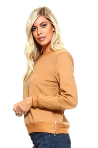 Women's Sweatshirt with Side Zippers