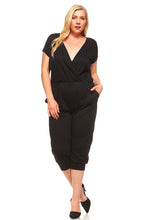 Load image into Gallery viewer, Women's Plus Size V-Neck T-shirt Jumpsuit
