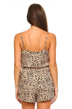 Load image into Gallery viewer, Women's Animal Print Button Romper
