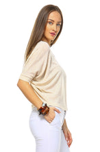 Load image into Gallery viewer, Women's Lightweight Loose Crop Top