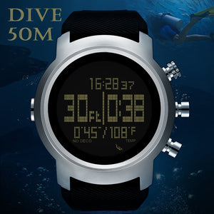 Men Diver Watch Waterproof 100m Smart Digital watch sport military army diving Watch Altimeter Barometer Compass clock NORTHEDGE