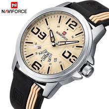 Load image into Gallery viewer, Mens Watches Top Brand Luxury NAVIFORCE Quartz-Watch Sport Silicone Strap Clock Men Waterproof Wristwatches relogio masculino