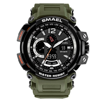 Military Watch Men Army Strap SMAEL Quartz Wristwatches Man LED Digital
