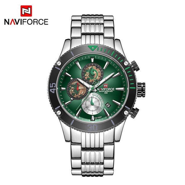 NAVIFORCE Men Watch Top Brand Big Dial Sport Watches Men's Luxury Quartz Wristwatch Chronograph Male Relogio Masculino