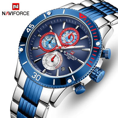 NAVIFORCE Men Watch Top Brand Big Dial Sport Watches Men's Luxury Quartz Wristwatch Chronograph Male Clock Relogio Masculino