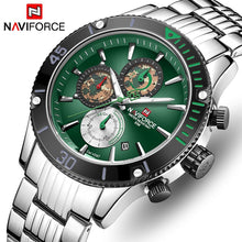 Load image into Gallery viewer, NAVIFORCE Men Watch Top Brand Big Dial Sport Watches Men's Luxury Quartz Wristwatch Chronograph Male Relogio Masculino
