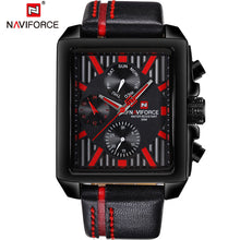Load image into Gallery viewer, NAVIFORCE Mens Watches Top Brand Luxury Sport Military Men Watch Waterproof Leather Quartz Watch Rectangle Relogio Masculino
