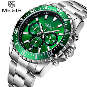 New Top Brand Men's Chronograph Analog Quartz Watch With Date Hands Waterproof Stainless Steel Wristswatch Man Relogio Masculino