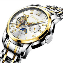 Load image into Gallery viewer, New fashion Tourbillon HAIQIN men watches Top brand luxury sport wristwatch business stainless steel clock relogio masculino+box