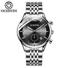 Load image into Gallery viewer, OCHSTIN Top Brand Luxury Watch Men Rose Gold Leather Strap  Wrist Watch Fashion Business Clock Quartz Watch Relogio Masculino
