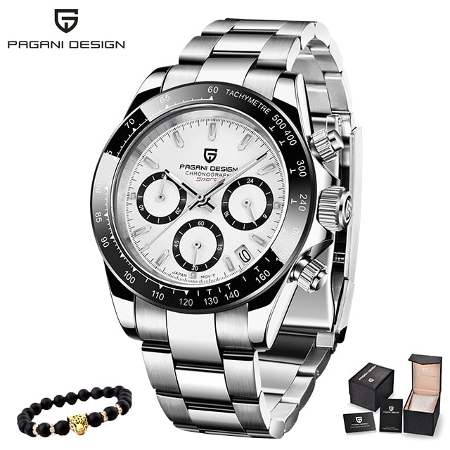 PAGANI DESIGN 2019 New Men's Watches Sport Quartz Watch Men Steel Waterproof Clock Male Fashion Chronograph Relogio Masculino