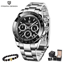 Load image into Gallery viewer, PAGANI DESIGN 2019 New Men's Watches Sport Quartz Watch Men Steel Waterproof Clock Male Fashion Chronograph Relogio Masculino