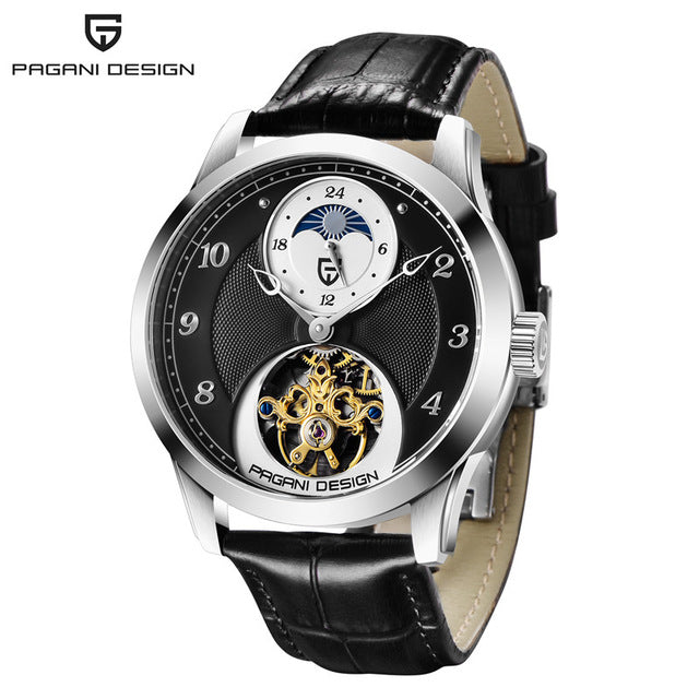PAGANI DESIGN Men Watch Tourbillon Automatic Mechanical Moon Phase Top Brand Mens Luxury Sports Clock Wirstwatch Reloj Hombres