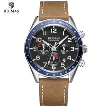 Load image into Gallery viewer, RUIMAS Luxury Quartz Watches for Men Military Leather Strap Chronograph Wristwatch Man Top Brand Sports Watch Relogios Clock 574