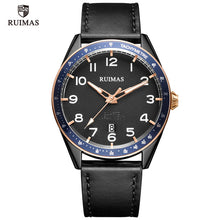 Load image into Gallery viewer, RUIMAS Men Sports Military Quartz Watch Man Top Luxury Brand Analog Date Clock Leather Strap Wristwatch Relogio Masculino 573
