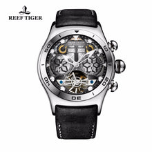 Load image into Gallery viewer, Reef Tiger/RT Luminous Sport Watches For Men Year Month Calendar Automatic Watch with Tourbillon RGA703