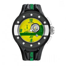 Load image into Gallery viewer, Reef Tiger/RT Mens Chronograph Sport Watches Dashboard Dial Quartz Movement Watch with Date Stop Watch Green Yellow RGA3027