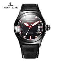 Load image into Gallery viewer, Reef Tiger/RT Mens Sport Watches Luminous Skeleton Automatic Watches Genuine Leather Band RGA704