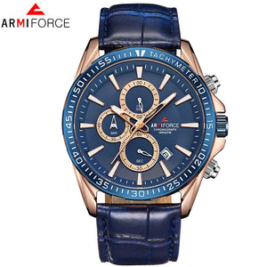 Relogio Masculino ARMIFORCE Mens Watches Top Brand Luxury Quartz Watch Men Casual Leather Military Waterproof Sport Wristwatch