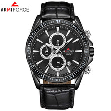 Load image into Gallery viewer, Relogio Masculino ARMIFORCE Mens Watches Top Brand Luxury Quartz Watch Men Casual Leather Military Waterproof Sport Wristwatch