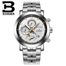 Load image into Gallery viewer, Relogio Masculino BINGER Mens Watches Top Brand Luxury Chronograph Quartz Watch Men Luminous Men Wrist Watch reloj hombre 9017M2