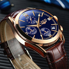 Load image into Gallery viewer, Relogio Masculino LIGE Mens Watches Top Brand Luxury Men's Fashion Business Waterproof Quartz Watch For Men Casual Leather Watch