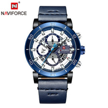 Load image into Gallery viewer, Relogio Masculino NAVIFORCE Men Watch Top Brand Luxury Sport Chronograph Military Army Wristwatch Leather Quartz Male Clock 9131