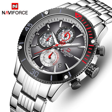 Relogio Masculino New NAVIFORCE Big Dial Sport Mens Watches Top Brand Luxury Chronograph Date Quartz Watch Men Male Clock 2019