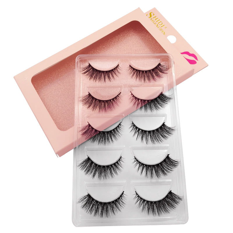 98ffed905ae ... Load image into Gallery viewer, SHIDISHANGPIN 5 Pairs mink eyelashes  natural long 3d eyelashes 1cm ...