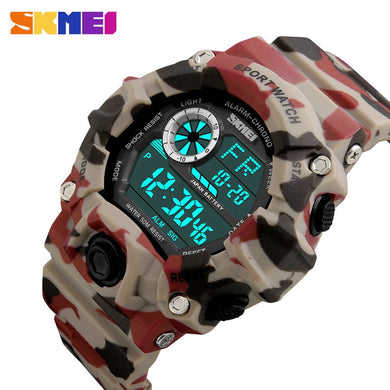 SKMEI Army Military Watch Sport Watches Men Waterproof Shock Watch LED Digital Wristwatches Relogio Masculino Horloge Mannen New