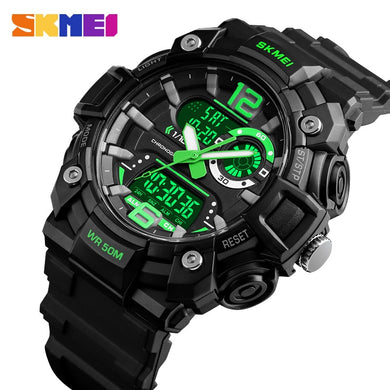 SKMEI Military Sports Watches Men Fashion Dual Display Digital Watch Waterproof Luminous Quartz Wristwatch montre homme 1529