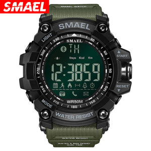 SMAEL Bluetooth Smart Watch Men Sport Intelligent Pedometer Fitness Watches for iPhone Android 50M Swim Digital Clock Relogio