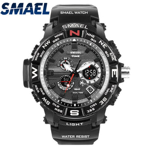 SMAEL Brand Watch Men LED Digital Watches Mens Sport Military