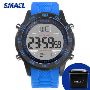 SMAEL Wristwatch Mens LED Digital Display Watch Men Top Luxury