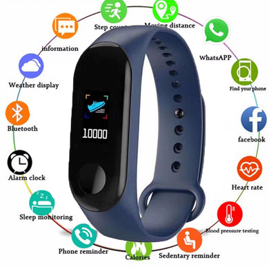 Smart Band Watch Bracelet Wristband Fitness Tracker Blood Pressure Heart Rate Fitness Tracker watches Women Dropshipping 2019