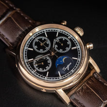 Load image into Gallery viewer, Super Luminous Pilot Chronograph Mechanical Watches Men 100% Seagull ST1908 Moon Phase NATO Calendar Men Wristwatch Relogio 2019