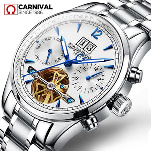 Switzerland Mechanical Watch Men Sapphire Carnival Luxury Brand Waterproof Men's Watches Waterproof Luminous Tourbillon Clock